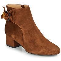 Shoes Women Ankle boots André LOUISON Cognac
