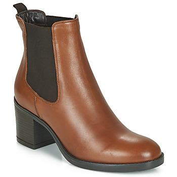Shoes Women Ankle boots André MABELLE Cognac