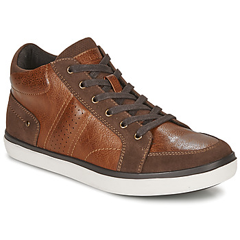 Shoes Men High top trainers André MOMBASSA Brown