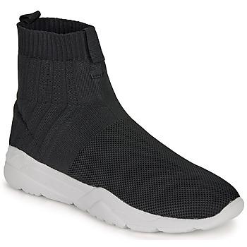 Shoes Men High top trainers André LUNAIRE Black
