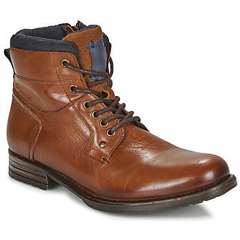 Shoes Men Mid boots André CLABA Cognac