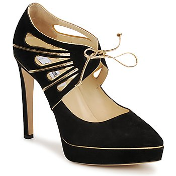 Shoes Women Court shoes Moschino MA1004 Black gold