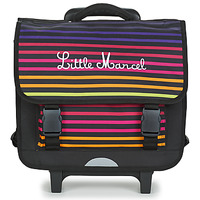 Bags Children Satchels Little Marcel CALICEO Black / Multicolour
