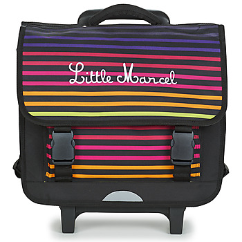 Bags Children Rucksacks / Trolley bags Little Marcel CALICEO Black / Multicoloured
