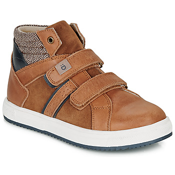 Shoes Boy High top trainers André TIMOTHE Brown