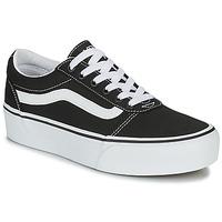Shoes Women Low top trainers Vans WARD PLATFORM Black
