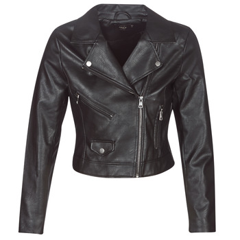 material Women Leather jackets / Imitation le Only ONLENYA Black