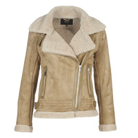 material Women Leather jackets / Imitation le Only ONLMADDIE Beige