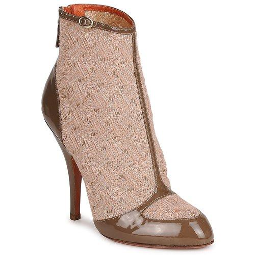Shoes Women Ankle boots Missoni LISCIA Beige / Brown