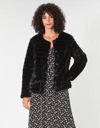 material Women coats Lauren Ralph Lauren FAUX CHUBBY Black