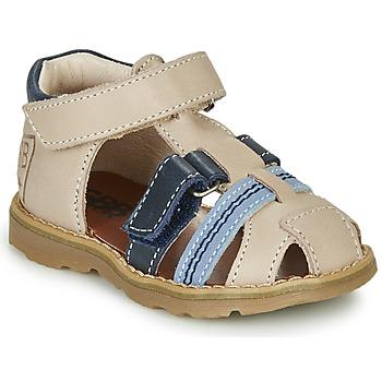 Shoes Boy Sandals GBB DIMMI Beige / Blue