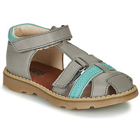 Shoes Boy Sandals GBB SEVILLOU Grey / Blue