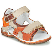 Shoes Boy Sandals GBB EROPE Beige / Orange