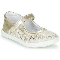 Shoes Girl Ballerinas GBB PLACIDA White / Gold