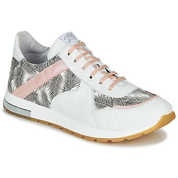 Shoes Girl Low top trainers GBB LELIA White / Black / Pink