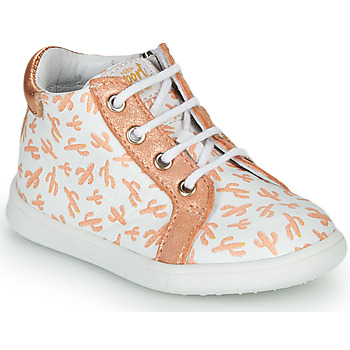 Shoes Girl High top trainers GBB FAMIA White / Pink / Gold