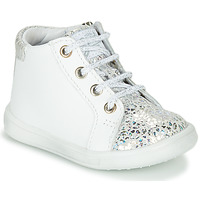 Shoes Girl High top trainers GBB FAMIA White / Silver