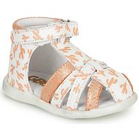 Shoes Girl Sandals GBB AGRIPINE White / Orange