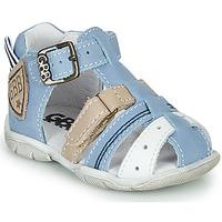 Shoes Boy Sandals GBB BYZANTE Blue / Grey