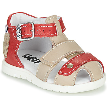 Shoes Boy Sandals GBB BASILA Red / Beige