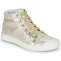 Shoes Girl High top trainers GBB NAVETTE CRT BLANC IMPR OR DPF/MILENA