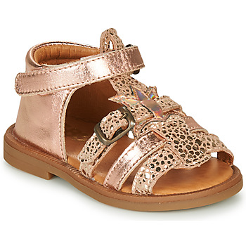 Shoes Girl Sandals GBB CARETTE Pink / Gold