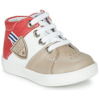 Shoes Boy High top trainers GBB AMOS Beige / White / Red