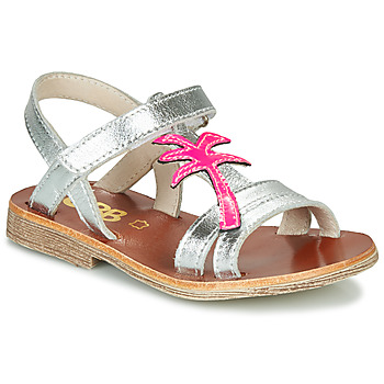 Shoes Girl Sandals GBB SAPELA Silver / Pink