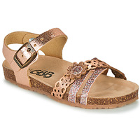 Shoes Girl Sandals GBB PANORA Pink / Gold