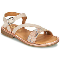 Shoes Girl Sandals GBB FANA Beige / Pink