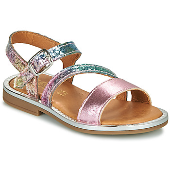 Shoes Girl Sandals GBB FANA Pink / Multicolour