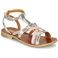 Shoes Girl Sandals GBB JULIA White / Pink