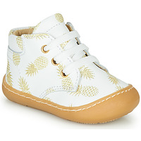 Shoes Girl High top trainers GBB ATARINA White / Gold