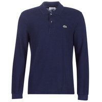 material Men long-sleeved polo shirts Lacoste L1312 Marine