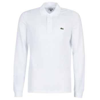 material Men long-sleeved polo shirts Lacoste L1312 White