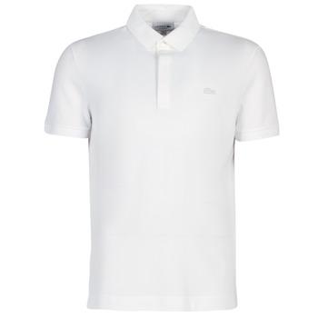material Men short-sleeved polo shirts Lacoste PARIS POLO REGULAR White