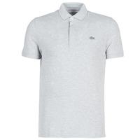 material Men short-sleeved polo shirts Lacoste PARIS POLO REGULAR Grey