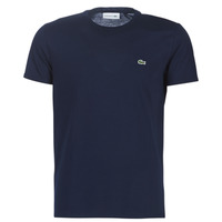 material Men short-sleeved t-shirts Lacoste TH6709 Marine