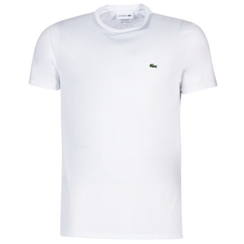 material Men short-sleeved t-shirts Lacoste TH6709 White