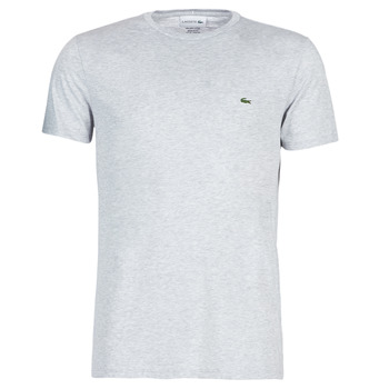 material Men short-sleeved t-shirts Lacoste TH6709 Grey