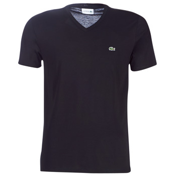 material Men short-sleeved t-shirts Lacoste TH6710 Black