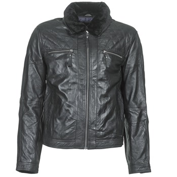 material Men Leather jackets / Imitation le Teddy Smith BLEATHER Black