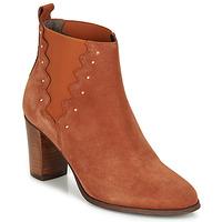 Shoes Women Ankle boots André NORINE Orange