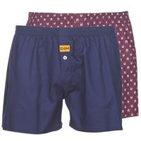 Underwear Men Boxers DIM BOXER FLOTTANT x2 Marine / Bordeau