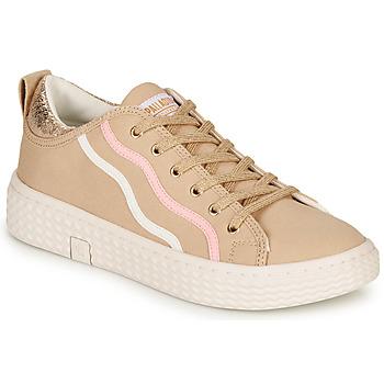 Shoes Women Low top trainers Palladium TEMPO 02 CVS Beige