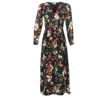 material Women Long Dresses Betty London LIMBA Black / Multicolour