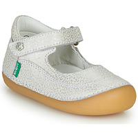 Shoes Girl Ballerinas Kickers SORBABY White / Silver