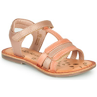 Shoes Girl Sandals Kickers DIAMANTO Pink / Orange