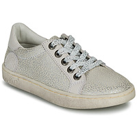 Shoes Girl Low top trainers Kickers LYKOOL Grey / Silver / Leopard