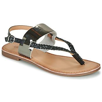 Shoes Women Sandals Kickers ESTHERA Black / Silver